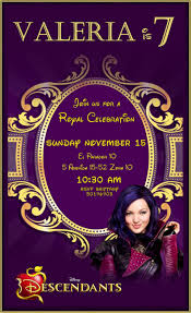 Descendants Party Invitations Invitaciones De Descendientes