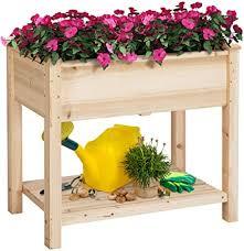 wooden raised vegetable garden bed