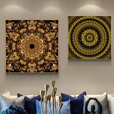 Tibet Thangka Buddha Spiritual Abstract Hd Canvas Painting Posters And Prints Unique Home Decor Wall Art For Living Room Zy052 Painting Calligraphy Aliexpress