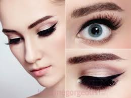 simple cute cat eye makeup saubhaya