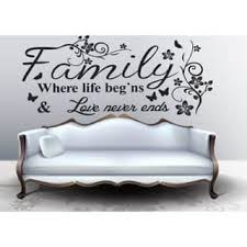 Shop Full Color Family Quote Wall Art Vinyl Decals Stickers Quotes Sticker Decal Size 44x70 Overstock 14367303