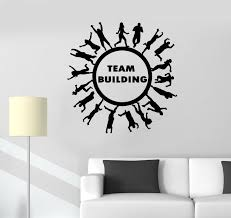 Vinyl Wall Decal Team Building Workplace Teamwork Business Office Stic Wallstickers4you