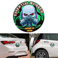 1pc Car Window Reflective Sticker 3d Radioactive Skull Virus Vinyl Decal Car Motorcycle Waterproof Laminated Decoration Auto Styling Vehicle Body Door Buy At A Low Prices On Joom E Commerce Platform