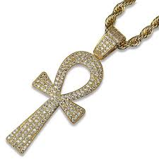 14k gold plated ankh pendant necklace