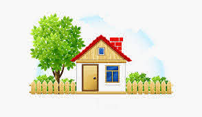 Clip Art Cartoon Cotage House With Fence Clipart Free Transparent Clipart Clipartkey