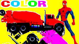 Người nhện và những siêu anh hùng lái xe bồn trộn bê tông nhiều màu sắc | nhạc  thiếu nhi tiếng anh - Thông tin kiến thức về máy công nghiệp, máy