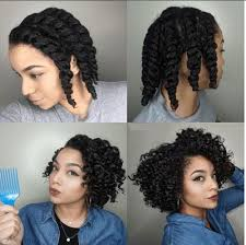 curl short black hair without heat