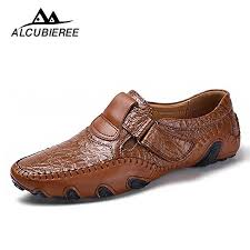 leather shoes breathable loafers men