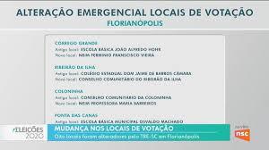 Florianópolis terá locais de votação alterados neste domingo; veja a lista  | Eleições 2020 em Santa Catarina
