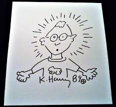 Signed Keith Haring 89 Self Portrait ...