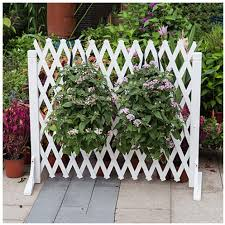 Zengai Garden Fence Expanding Wooden Fence Privacy Screen Extendable Instant Fence Decorative White Thick 0 9cm Size 160x80cm Amazon Co Uk Garden Outdoors