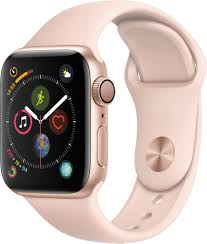 Best Buy: Apple Watch Series 4 (GPS) 40mm Gold Aluminum Case with Pink Sand  Sport Band Gold Aluminum MU682LL/A