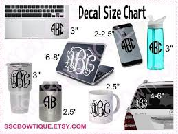 Image Result For Tumbler Decal Size Chart Yeti Monogram Coffee Decal Tumbler Decal