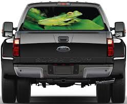 Frog Car Rear Window See Through Net Decal Decalz Co