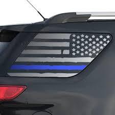 Amazon Com Distressed Usa Flag W Thin Blue Line Decals For 2011 2019 Ford Explorer 3rd Windows Custom Design Qr4 Fe5 A Handmade
