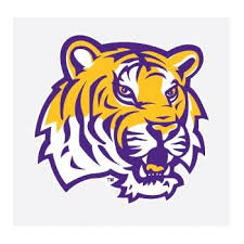 Amazon Com Lsu Tigers Tiger Head Mascot Logo 4 Vinyl Decal Car Truck Sticker Everything Else