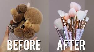 how to clean makeup brushes how often