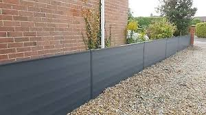 Composite Plastic Fencing Panels That Fit Into Your Existing Concrete Posts Ebay