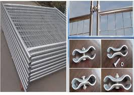 Temporary Security Fence Panels Building Site Safety Fencing With Plastic Foot