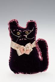 Cat - Ada Perry, Dark Purple Velvet, circa 1930s-1960s