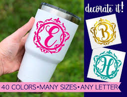 Letter Decals For Tumblers Fancy Letter Decal Fancy Letter Etsy Letter Decals Initials Sticker Fancy Letters