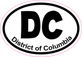 3in X 2in Oval Dc District Of Columbia Sticker Vinyl Window Bumper Decal Stickertalk