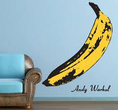 Banana Warhol Wall Sticker Banana Art Room Stickers World Art Day