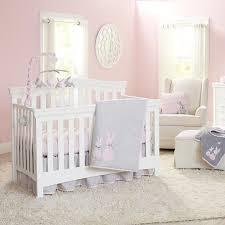 bunny 4 piece crib bedding set