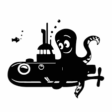 Yjzt 17cm 13 7cm Cute Submarine Boat Octopus Ordinary Lovely Vinly Decal Cool Car Sticker Interesting Black Silver C27 0564 Car Stickers Aliexpress