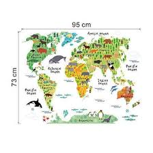 Shop Colorful World Map Kids Room Decor Wall Sticker Wall Decals Nursery Decor 99lxl Online From Best Wall Stickers Murals On Jd Com Global Site Joybuy Com