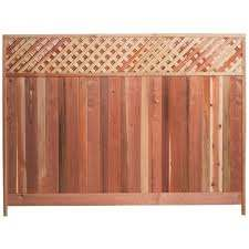 Mendocino Forest Products 6 Ft H X 8 Ft W Redwood Lattice Top Fence Panel 01337 The Home Dep In 2020 Lattice Fence Panels Metal Fence Panels Fence With Lattice Top