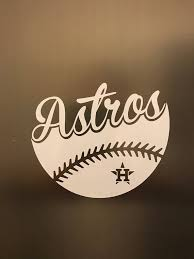 Houston Astros Baseball Vinyl Decal Car Window Bumper Etsy