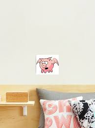 Pigs May Fly Flying Pig T Shirt Duvet Sticker Photographic Print By Deanworld Redbubble
