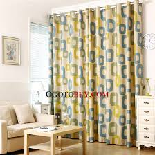 Cool Pattern Yellow And Blue Polyester Blackout Kids Room Curtains Buy Blue Print Blackout Black Out 90 Of Sunlights Curtains Cheap Curtains Sale