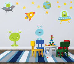Alien Wall Decal Outer Space Wall Decal Outer Space Nursery Wall Decals Nursery Kids Wall Decal Children Wall Decals Cuarto Nina Vinilos Dormitorios