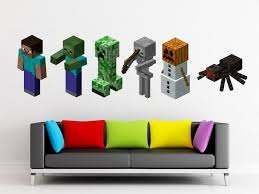 Free Upgrade To 3 Feet For A Limited Time By Decalsforchildren Minecraft Wall Minecraft Room Crafts For Kids To Make