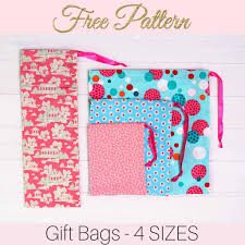how to make fabric gift bags 4 sizes