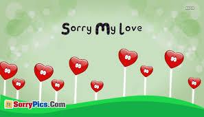 sorry love images es messages