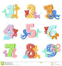 Animales Inflables Con Numeros Del Cumpleanos Graphhics Del Vector La Plantilla Del Diseno De Las Tarjetas De La Invitacion Para Ilustracion Del Vector Ilustracion De Liebres Giraffe 101115063
