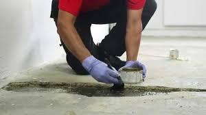 repair a hole in a concrete floor