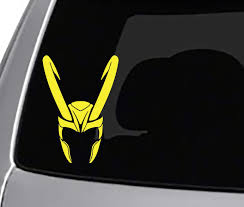 Loki Helmet Decal Car Truck Window Bumper Sticker Thor Auto Parts And Vehicles Car Truck Graphics Decals Magenta Cl
