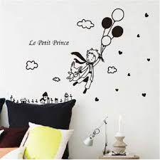 Amazon Com The Little Prince Wall Decal Le Petit Prince Vinyl Stickers Decoration Nursery Kids Boys Girls Baby Room Bedroom Wall Art Home Decor Black Home Kitchen
