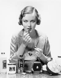 what women used for makeup 100 years ago