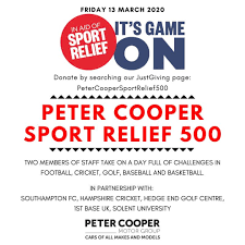 Matt Clewes is fundraising for Sport Relief