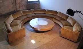 milo baughman burled curve circle sofa