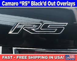 Camaro Rs Emblem Overlays Vinyl Camaro Rs Black Out Decals Camaro Rs Stickers Ebay