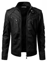 men faux leather jacket design 13