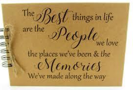 quote life friends family memory book scrapbook album keepsake
