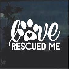 Super Cool Love Rescued Me Dog Paw Window Decal Sticker Check It Out Here Https Customstickershop Us Shop Love Res Rescue Dog Quotes Rescue Quotes Pet Signs