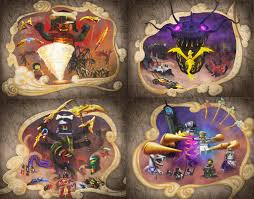 For those of you who don't check Tommy's twitter, the first 4 murals from Season  10 in hi-rez : Ninjago